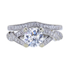 1.25 ct. Round Cut Bridal Set Ring, D, SI2 #3