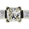 1.09 ct. Princess Cut Solitaire Ring, H, VS2 #4