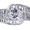 1.20 ct. Round Cut Central Cluster Ring #1