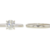 1.09 ct. Round Cut Bridal Set Ring, M, SI2 #3