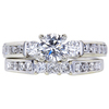 0.82 ct. Round Cut Bridal Set Ring, H, SI2 #3