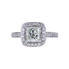 1.01 ct. Princess Cut Halo Ring, K, VS1 #4