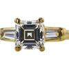 0.86 ct. Asscher Cut 3 Stone Ring, J, VVS2 #2