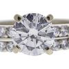 1.41 ct. Round Cut Bridal Set Ring, H, SI1 #4