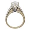 1.6 ct. Round Cut Bridal Set Ring, F, SI1 #4