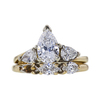 0.95 ct. Pear Cut Bridal Set Ring, G-H, SI1-SI2 #2