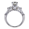 1.02 ct. Round Modified Brilliant Cut 3 Stone Ring, I, VS2 #2