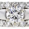 1.12 ct. Round Cut Bridal Set Ring, H, SI2 #4