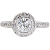 1.0 ct. Round Cut Halo Ring, G, I1 #3