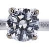 1.20 ct. Round Cut Bridal Set Ring, H, I1 #4