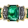 Emerald Cut Bridal Set Ring, Green, VS1-VS2 #1