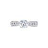 1.00 ct. Round Cut Bridal Set Ring, H, SI2 #3