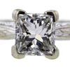 1.06 ct. Princess Cut Bridal Set Ring #4