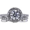 1.13 ct. Round Cut Bridal Set Ring, E, I2 #3
