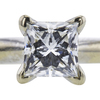 0.85 ct. Princess Cut Solitaire Ring, H, SI1 #4