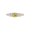 0.52 ct. Round Cut 3 Stone Ring, Fancy, VS1 #2