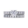 0.70 ct. Round Cut Bridal Set Ring, H, SI2 #3