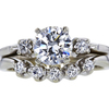 0.94 ct. Round Cut Bridal Set Ring, G, SI1 #3