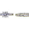 1.00 ct. Round Cut Bridal Set Ring, F, SI2 #2