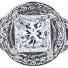 1.00 ct. Princess Cut Halo Ring, F, SI2 #4