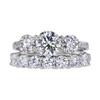 0.95 ct. Round Cut Bridal Set Ring, I, VVS2 #2