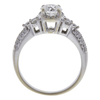 0.96 ct. Round Cut Bridal Set Ring, G-H, SI2 #3