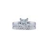 1.01 ct. Princess Cut Bridal Set Ring, F, SI1 #3