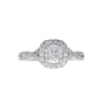 0.75 ct. Cushion Cut Halo Ring, F, SI2 #3