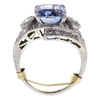 No Heat Natural Sapphire 5.95 ct. Cushion Cut Ring, Blue, Moderately Included #2