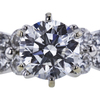 1.11 ct. Round Cut Bridal Set Ring, F, VVS1 #1