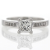 0.9 ct. Princess Cut Central Cluster Ring #1