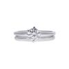 0.7 ct. Round Cut Bridal Set Ring, H, VS2 #3