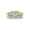 0.84 ct. Round Cut Bridal Set Ring, E, SI1 #3