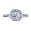 0.71 ct. Princess Cut Halo Ring, G, VS1 #3