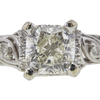 1.01 ct. Cushion Modified Cut Solitaire Ring, J, VS2 #4