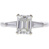 1.5 ct. Emerald Cut 3 Stone Ring, H, VS2 #3