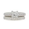 0.72 ct. Princess Cut Bridal Set Ring, I, VS2 #3
