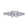 1.00 ct. Princess Cut 3 Stone Ring, J, SI2 #3