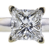 1.40 ct. Princess Cut Solitaire Ring, G, I1 #1
