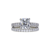 1.70 ct. Cushion Cut Bridal Set Ring, G, VVS2 #3