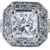 0.71 ct. Princess Cut Halo Ring, G, VS1 #4