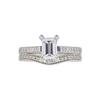 1.01 ct. Emerald Cut Bridal Set Ring, E, VVS2 #3