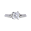 1.04 ct. Radiant Cut Solitaire Ring, E, VS2 #3