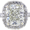 3.01 ct. Cushion Cut Bridal Set Ring, J, SI2 #1