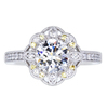 1.00 ct. Round Cut Halo Ring, F, SI1 #3