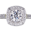 0.86 ct. Round Cut Halo Ring #3