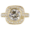 2.96 ct. Round Cut Halo Ring, M-Z, SI1 #3