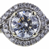 1.11 ct. Round Cut Bridal Set Ring, I, I1 #4