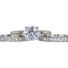 1.14 ct. Round Cut Bridal Set Ring, I, VS2 #3