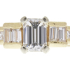 0.96 ct. Emerald Cut Solitaire Ring, F, VS1 #4